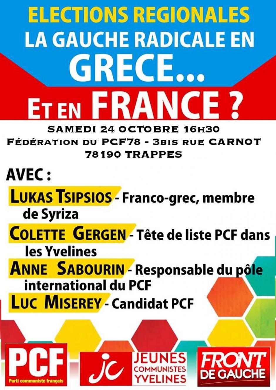 Débat  La Gauche radicale en Grèce... Et en France ?