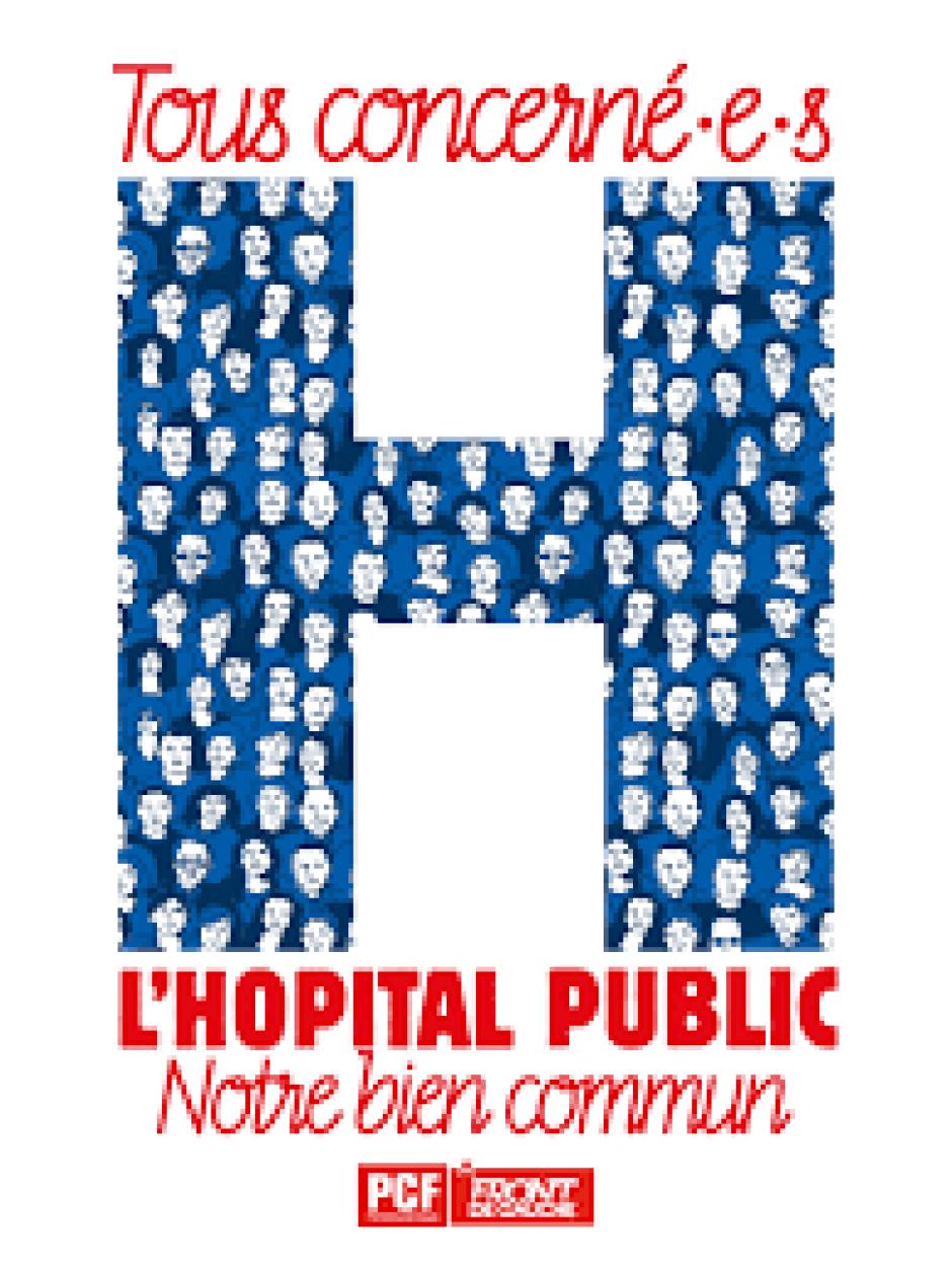 Défense de l'Hôpital de Rambouillet- Visite de Pierre Laurent 16/10/2018- 14h entrée de l'hôpital