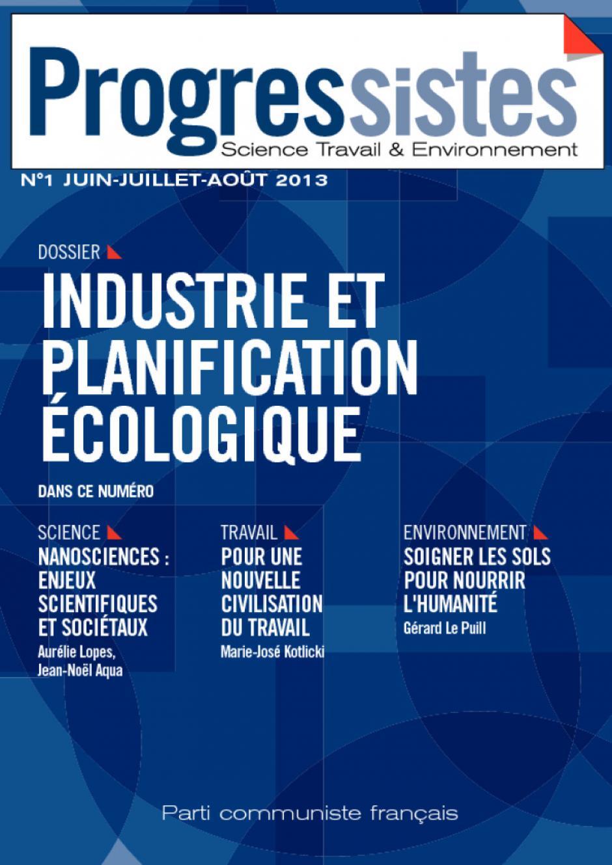 Progressistes, N°1 Industrie et planification écologique