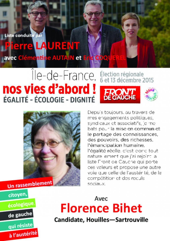 Régionales 2015 - Florence Bihet- candidate-Houilles-Sartrouville