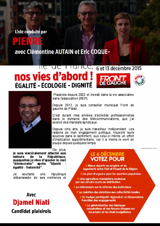 Régionales, Djamel Niati - Plaisir