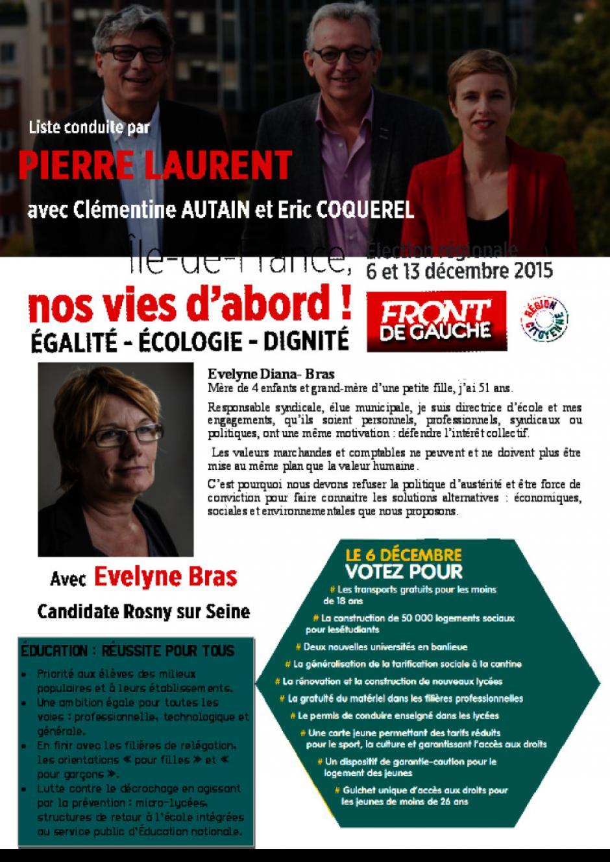 Régionales- Evelyne Diana Bras-Rosny sur Seine