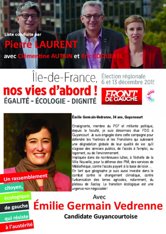 Régionales- Emilie Germain Vedrenne- Guyancourt