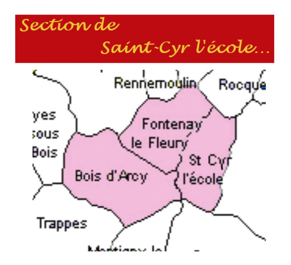 Section PCF de  SAINT-CYR-L'ECOLE, FONTENAY-LE-FLEURY, BOIS-D'ARCY.