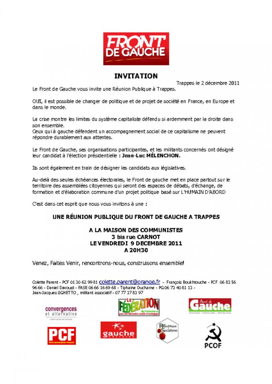 Vendredi 9 décembre, assemblée citoyenne à Trappes