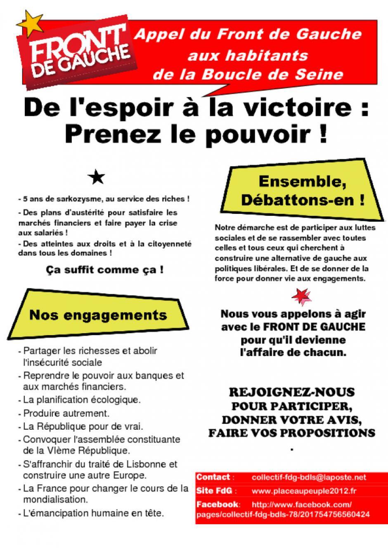 Compte rendu assemblée citoyenne Front de Gauche Houilles mardi 8 novembre 2011