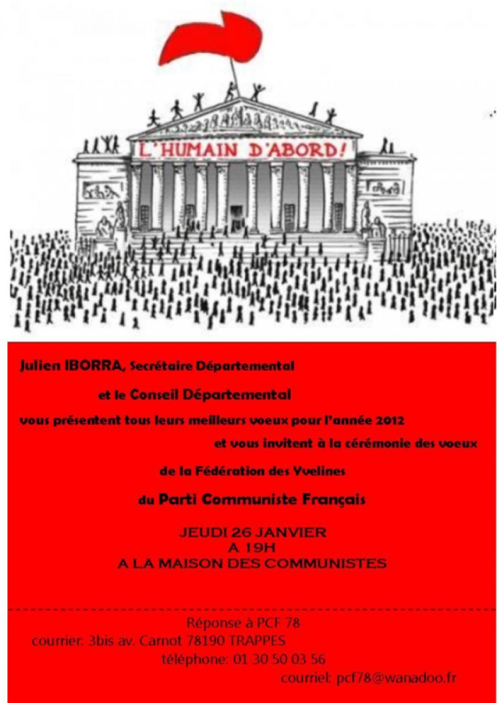 Voeux 2012 Fédération 78 du PCF