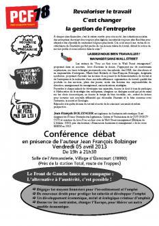 Revaloriser le travail c'est changer la gestion de l'entreprise : Débat 05-04-2013